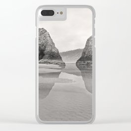 Tidal Pool Cannon Beach Oregon Coast Cave Forest Reflection Rocks Shoreline Nautical Northwest Pacif Clear iPhone Case