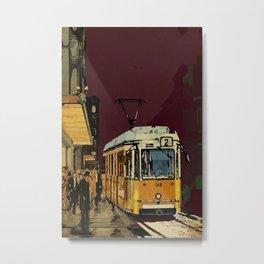 Tram 2 Art Deco Metal Print