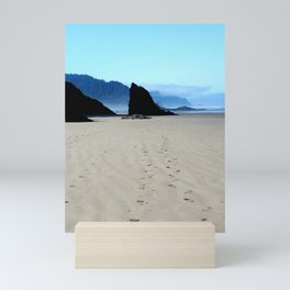 Footpirnts In The Sand Mini Art Print