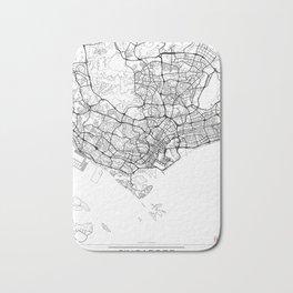Singapore Map White Bath Mat