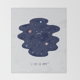 Negative Space Throw Blanket