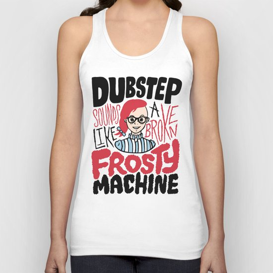 Frosty Dubstep Unisex Tank Top