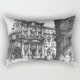 Baroque Church of San Carlo alle Quattro di Fontane in Rome Rectangular Pillow
