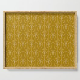 Art Deco Vector in Gold Serving Tray