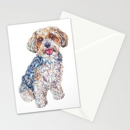 Maverick the Biewer Yorkshire Terrier Stationery Cards