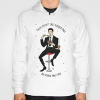 dale cooper Hoodies featuring Special Agent Dale Cooper ~ RR Diner by Emma Munger