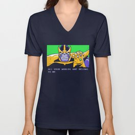 All Your Worlds Are Belong To Me Unisex V-Neck