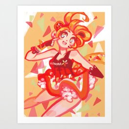 Honoka Kousaka Cyber Set 2 of 3 series Art Print