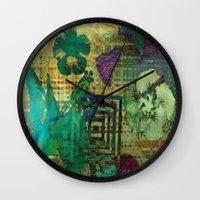 hibiscus Wall Clocks featuring Hibiscus by Vitta