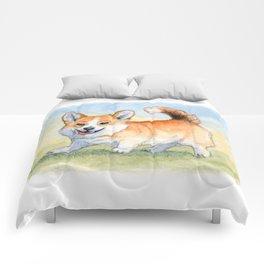Funny Welsh Corgi 859 Comforters
