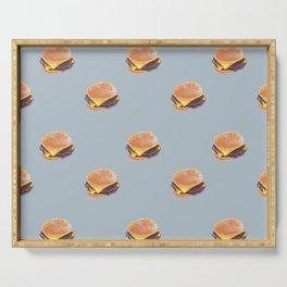 Double Cheeseburger, Plain Serving Tray