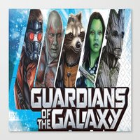 guardians of the galaxy Canvas Prints featuring guardians of the galaxy by store2u
