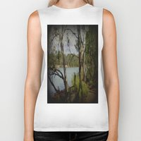murray Biker Tanks featuring The Mighty Murray River by Chris' Landscape Images & Designs