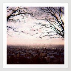View from Sacré-Cœur, Paris Art Print