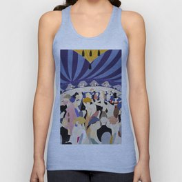 Dancing couples in jazz age nightclub Unisex Tank Top