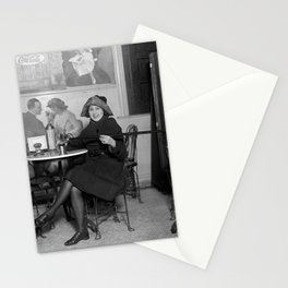 Flapper with Hidden Booze Cane - Prohibition - 1922 Stationery Cards