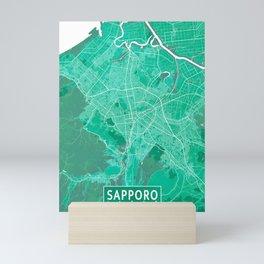 Sapporo City Map of Japan - Watercolor Mini Art Print