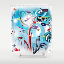 Reef Underwater Fishes Shower Curtain
