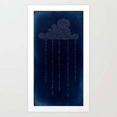 Cloud in Blue Art Print