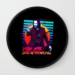 Keanu Reeves - You are breathtaking! Wall Clock