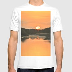 Setting Sun Mens Fitted Tee SMALL White