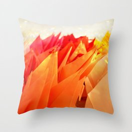 Senbazuru | shades of  orange Throw Pillow
