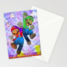 Pop Art Mario Brothers Stationery Cards