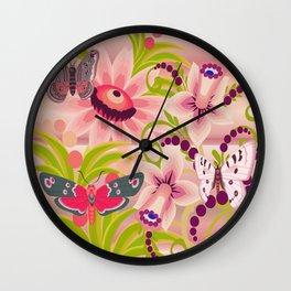 Flutter Butterflies Wall Clock