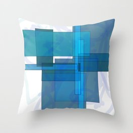 Squares combined no. 1 Throw Pillow