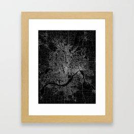 minneapolis map Framed Art Print