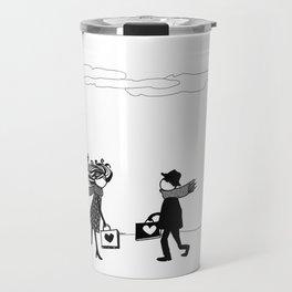 two people carrying love Travel Mug