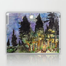 Campfire Under a Full Moon Laptop & iPad Skin
