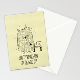 Unemotional Bear vs. Tech Stationery Cards