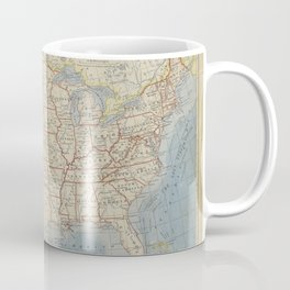 Old and Vintage Map of every States of The United States Of America Coffee Mug