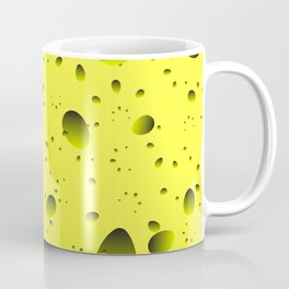 Large yellow drops and petals on a light background in nacre. Coffee Mug