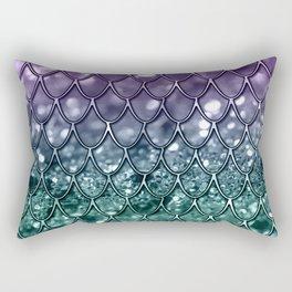 Mermaid Scales on Mermaid Girls Glitter #8 #shiny #decor #art #society6 Rectangular Pillow