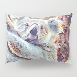 Painted Koala Baby Pillow Sham
