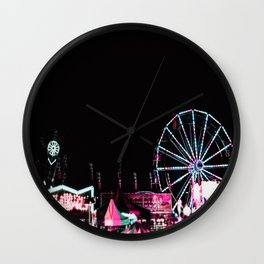 Los Angeles Autumn Nights Carnival Bokeh Wall Clock