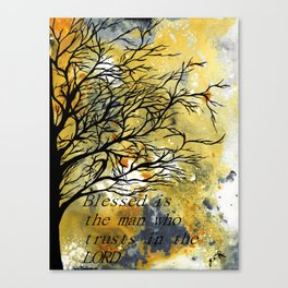 Blessed Is The Man Who Trusts In The Lord Canvas Print