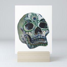 Peacock Skull Mini Art Print