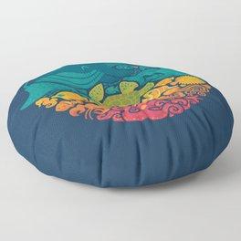 Aquatic Rainbow Floor Pillow