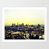 los angeles Art Prints featuring Los Angeles by Travis Davis