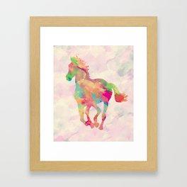 Abstract horse Framed Art Print