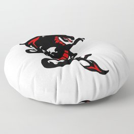 Black Dragon Floor Pillow