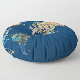 World Map 11 Floor Pillow