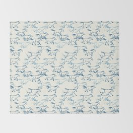 Wild and Free - Teal and Cream Throw Blanket