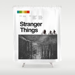 StrangerThings vintage Shower Curtain