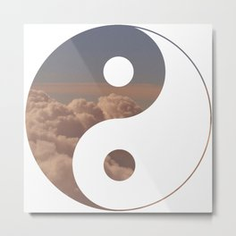 Yin Yang Clouds Metal Print