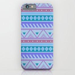 Blue Tribal Pattern  iPhone Case