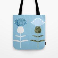 MCM Basket Flower Blue Tote Bag